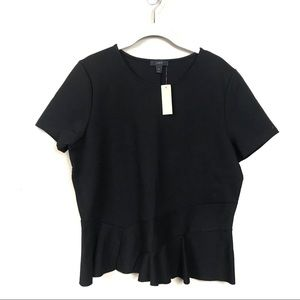 J. Crew Tops - New with tags jcrew structured flutter hem tee xl